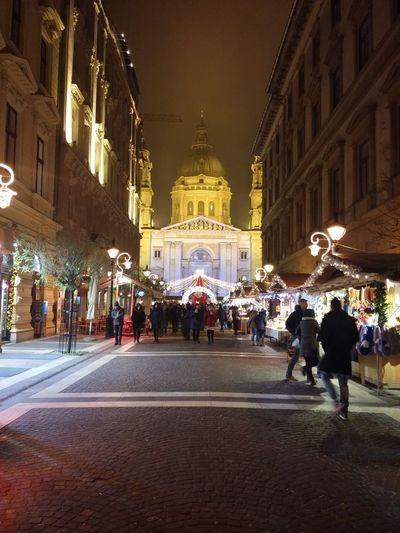 Budapest Budapest, Hungary Street City Myhome Christmas. Bazilika Lovemyhome Night