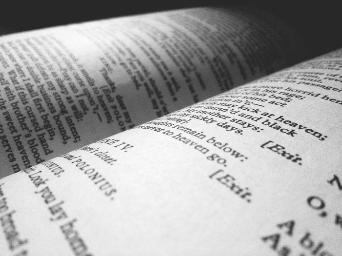 Close-up of book