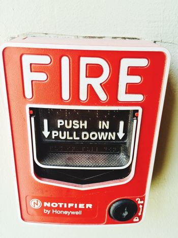 Emergency Caution Fire Pulldown IPhoneography Atjob