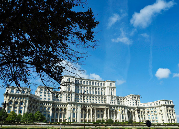 European Cities Presidential Palace Architecture Building Exterior Built Structure The Past Building Government Low Angle View Tree Sky Nature Day Cloud - Sky History Travel Destinations Outdoors City Travel Photography Bucharest Bucharest, Romania Eyem Architecture Eastern Europe