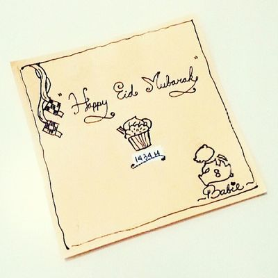 Happy Eid Mubarak 1434 H (Selamat Hari Raya Idul Fitri), mohin maaf lahir & batin ♥ Babiefabulouscakes BFC Idulfitri  Eidmubarak eid mubarak drawing moeslim