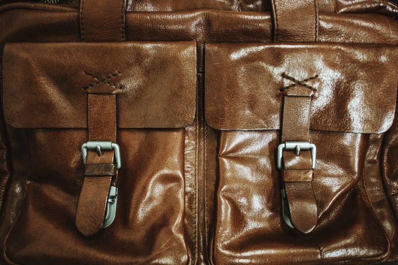Men's Leather Shoulder Bag Close Up Shoulder Bag Men Full Frame Backgrounds No People Close-up Luggage Indoors  Travel Pattern Brown Bag Still Life Leather Closed Design Textured