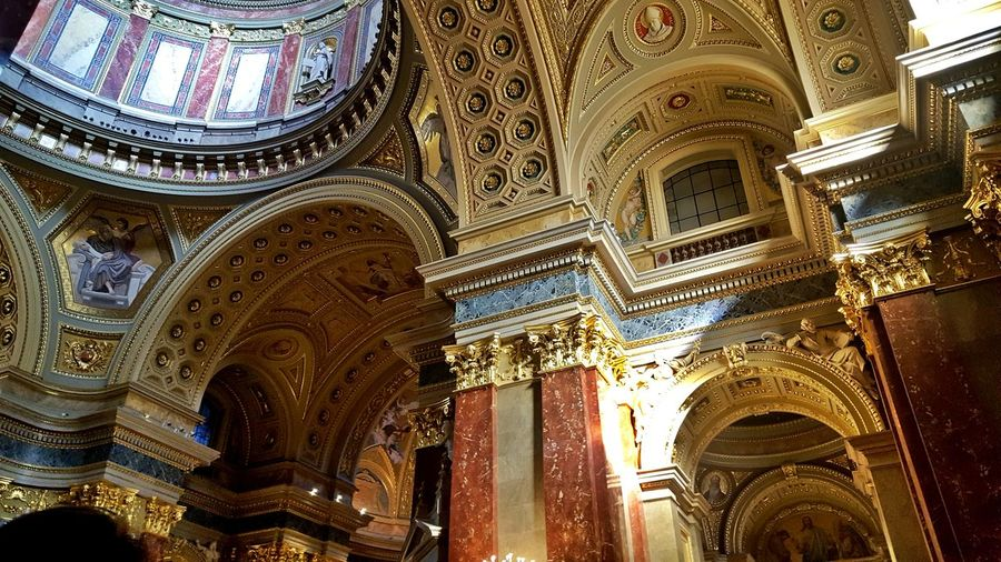 Arch Architecture Architecture And Art Budapest Budapest, Hungary Built Structure Ceiling Day History Hungary Indoors  Low Angle View No People Place Of Worship Religion Spirituality St. Stephan Cathedral St. Stephens Cathedral Travel Destinations
