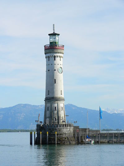Architecture Bodenseeregion Built Structure Lighthouse Sky Tall Tall - High Water Waterfront