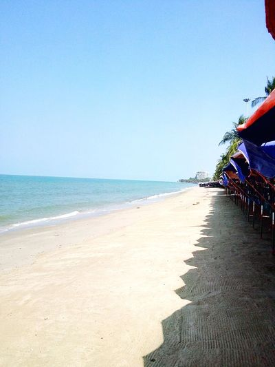 Bang Saen Beach ... Sea Sea And Sky Holiday Trip Happy :)