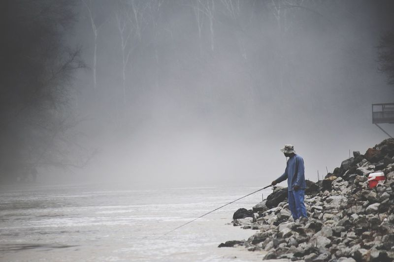 Fisherman in fog The Human Condition Mississippi