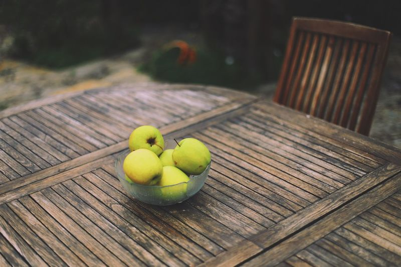 Food Apples Vacations 50mm Table Outdoors EyeEmNewHere Day Full Frame First Eyeem Photo Food Bokeh Bokeh Photography