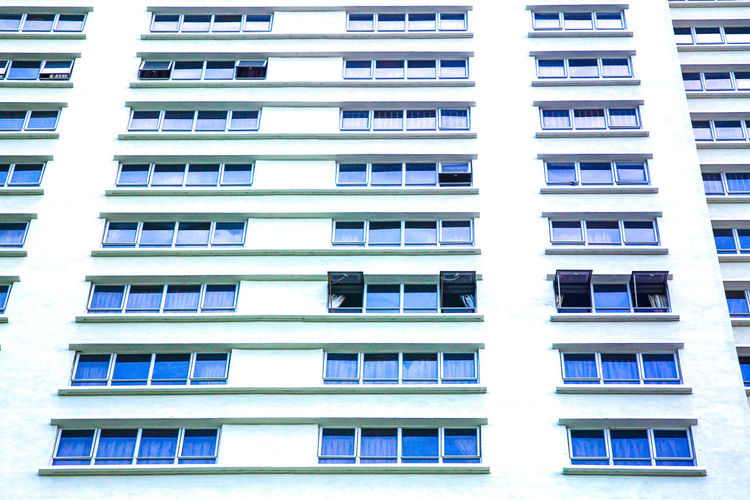 Lines And Shapes Textures and Surfaces Building Exterior Building Windows Urban Blue City White Pattern, Texture, Shape And Form Apartment City Residential Building Housing Development Window Balcony Full Frame Home Ownership Façade House Human Settlement TOWNSCAPE Community Residential District Cityscape