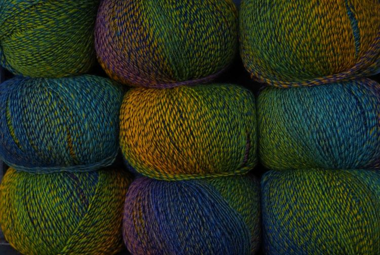 Ball Of Wool Beautifully Organized Colors Colourful Green Color Knitting No People Wool