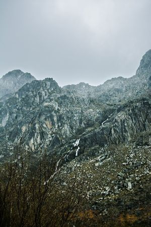 Outdoors Mountain Cold Temperature Winter Snow Fog Weather Sky Landscape Snowcapped Mountain Rocky Mountains Atmospheric Mood Storm Cloud Geology Tranquil Scene