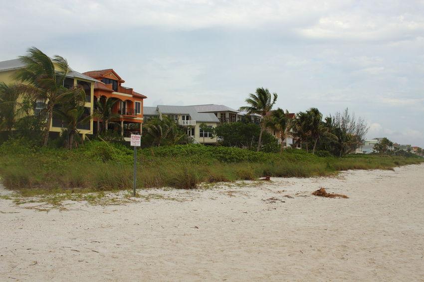 Beach Beachhouses Cloud - Sky Florida Fort Myers Beach Residential Building Residential Structure Sky Tree