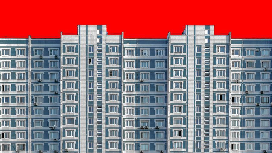 Architecture Building Exterior Red Home Ownership City Housing Development Window City Life Full Frame Apartment Skyscraper No People Backgrounds Outdoors Built Structure Day Urban Skyline Community Cityscape
