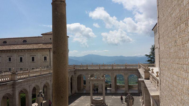 Montecassino Panoramic Monastery Religious  Sky Architectural Column Architecture Italy❤️ Italianlandscape Art