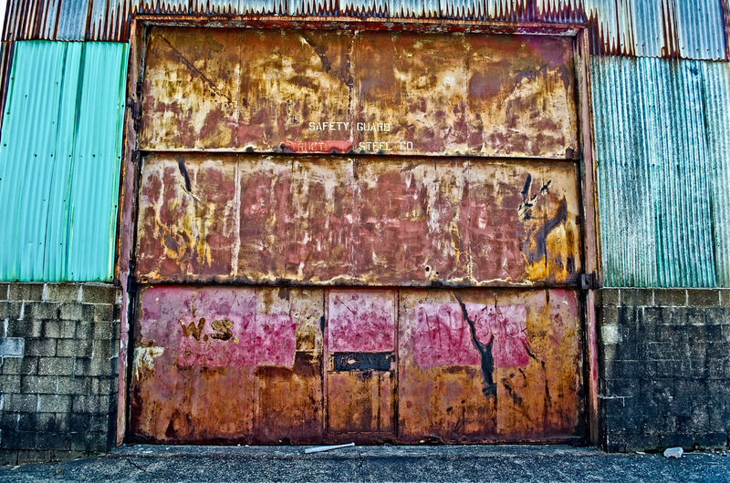 Rusty Steel Door Abandoned Architecture Built Structure Corrugated Iron Day Decay Grime Metal Outdoors Pittsburgh Rust Steel
