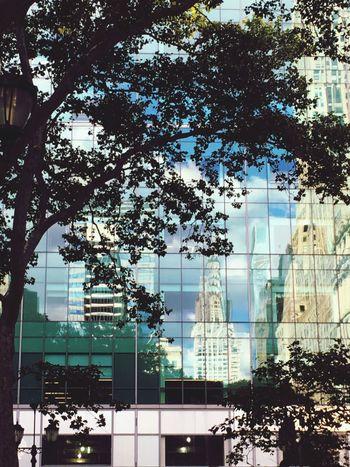 Bryantpark NYC Photography Reflection Chrysler Building