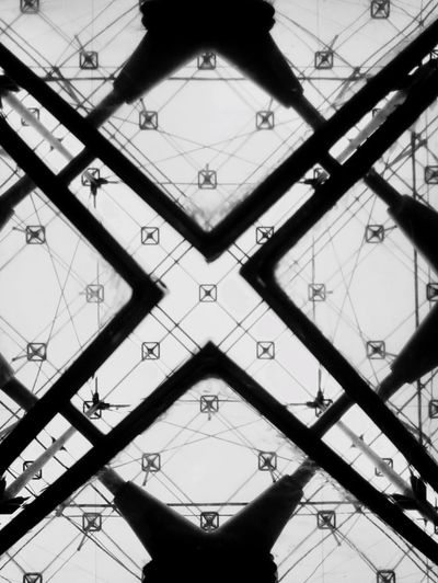 «If God exists, I'm sure he spends a lot of time at the Louvre Museum» Joann SFAR Bnw_collection Blackandwhite Orientation North South East West Art Is Everywhere Abstract Art Abstract Photography Abstract Geometric Abstraction Darkness And Light Paris Different Perspective Point Of View Pyramid Taking Photos Louvre Hello World Shape Symbol Symmetry Fantasy My Unique Style Modern Architecture Modern Triangle Shape Geometry Geometric Shape Indoors  Low Angle View Sky