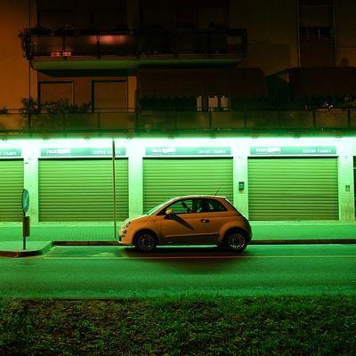 Photoshopexpress Neon Lights Fiat fiat500 fujixt1 fuji fujinon street igers instaitaly instagood instamood photooftheday car