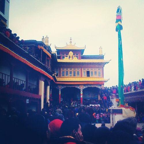 Annual Monastic Festival Thousands People Faith Oracle Mahayana Buddhism @Ladakh