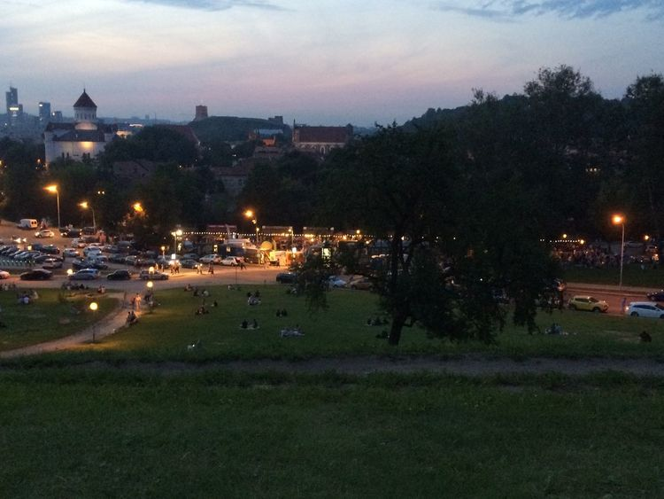 Night City Cityscape Outdoors Illuminated Sky Tree Urban Skyline City People Grass Large Group Of People Heaven