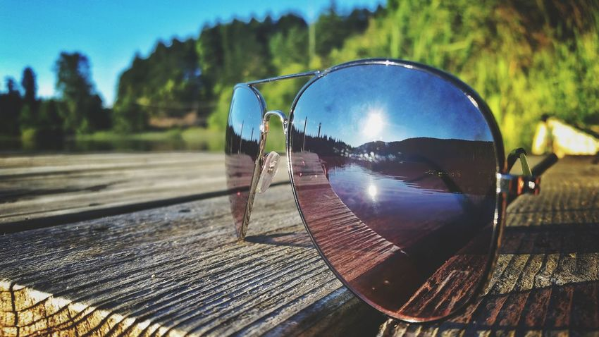 No People Reflection Sunlight Day Beauty In NatureShadow Outdoors Close-up Water Tree Nature Sky s Sunglasses Lakesideview Scenics Vacations Travel Destinations Lake Weather Photography Landscape