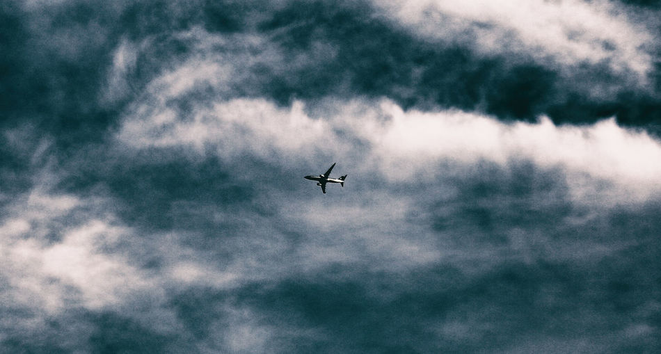Air Vehicle Airplane Cloud - Sky Day Flying Journey Low Angle View No People Outdoors Sky Transportation Travel