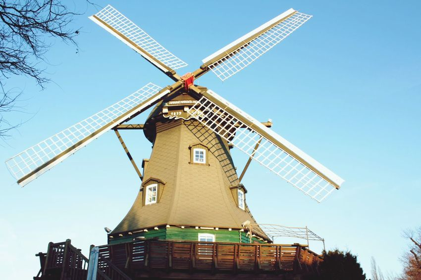 Hello World Windmill Blue Sky Hello December Enjoying Life Taking Photos Learn&shoot! Through My Eyes Outdoor Photography Click Click 📷📷📷 Reinbek Germany🇩🇪 This Is Real Life