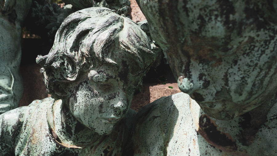 Close-up of old statue