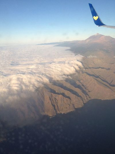 Great View of Mt Teide before Landing into Tenerife