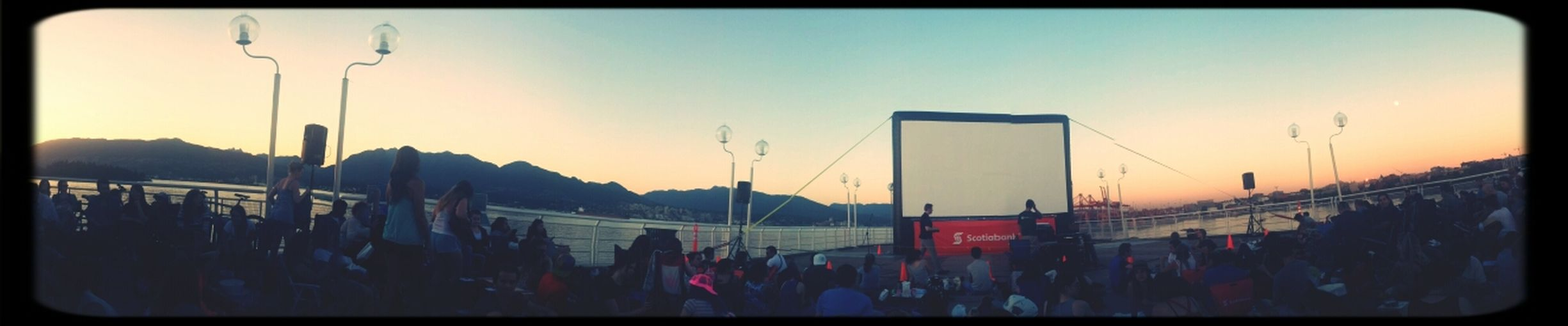 Outdoor movie at canada place!