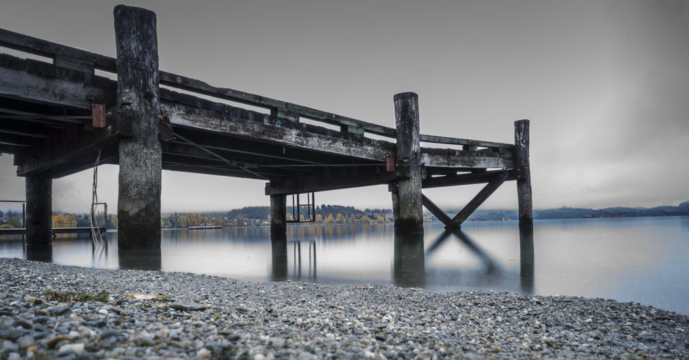 wanaka nd Wanaka Architectural Column Architecture Bridge Bridge - Man Made Structure Built Structure Connection Day Nature No People Outdoors Pier Scenics - Nature Sea Sky Tranquil Scene Tranquility Transportation Water Wharf