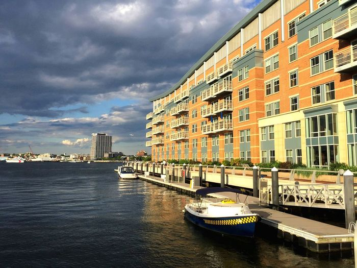 Architecture Built Structure Building Exterior City Sky Cloud - Sky Waterfront Water Transportation Day Cityscape Outdoors No People Nautical Vessel Urban Skyline Harbor Sea Boston