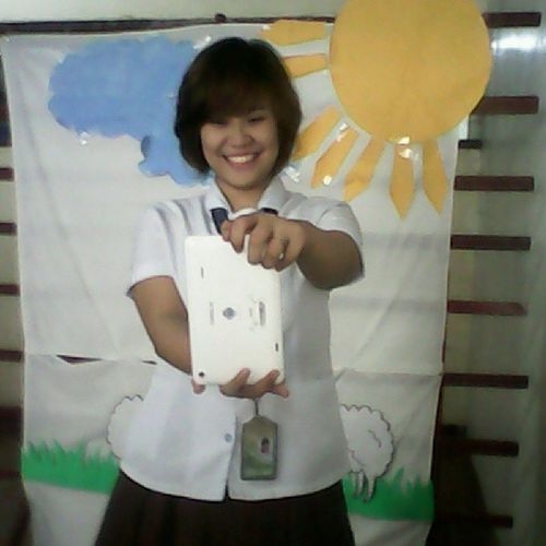 hehe ..Pretty Happiness Model Jolly smiley pong