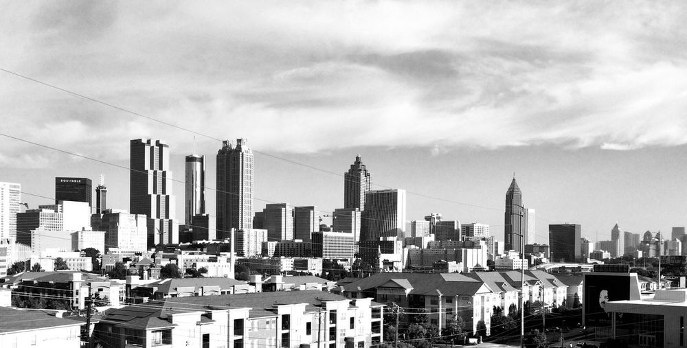 Downtown Atlanta at Sunrise Ways Of Seeing Sunlight And Shadow Sunlight And Shadow Sky Arch Black And White Angle Building Exterior Built Structure City Building Exterior Built Structure City