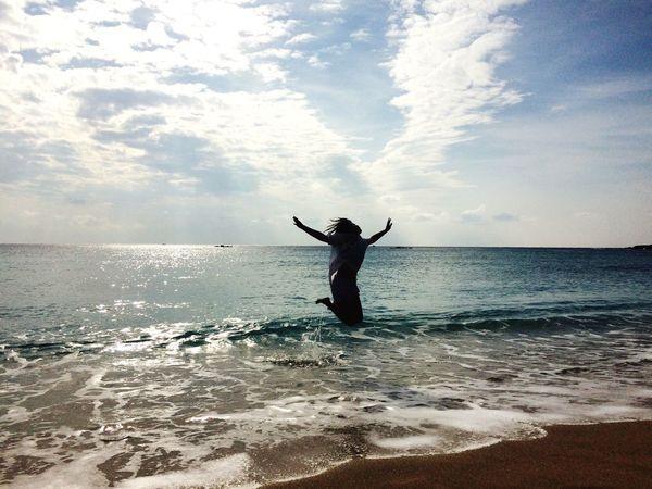 Beach Sun Sea Jump