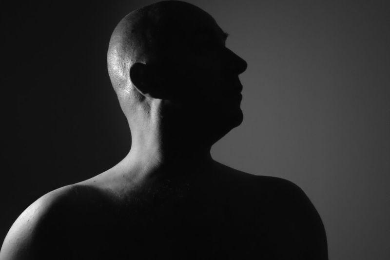 Black Background Dark Darkroom Man Portrait