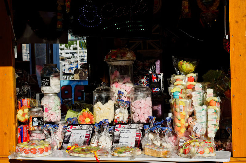 Market stall for sale in store