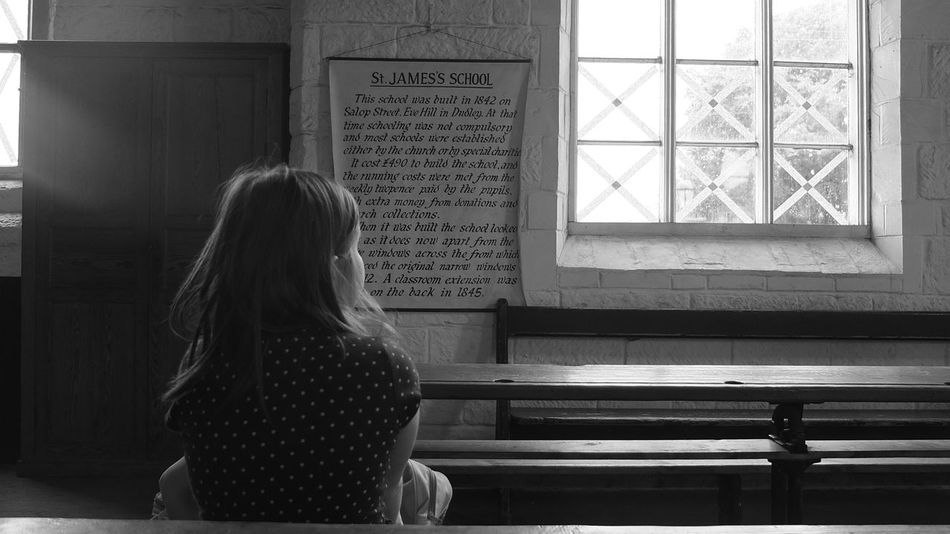 """Children begin by loving their parents; after a time they judge them; rarely, if ever, do they forgive them."" Oscar Wilde - Shot: St. James School, Black Country Museum, West Midlands, July 2014. Photography Oscarwilde EyeEm Best Shots - Black + White Travels"