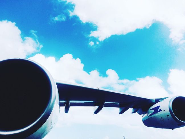 Airbus A340-300 left wing view at punta cana international airport First Eyeem Photo