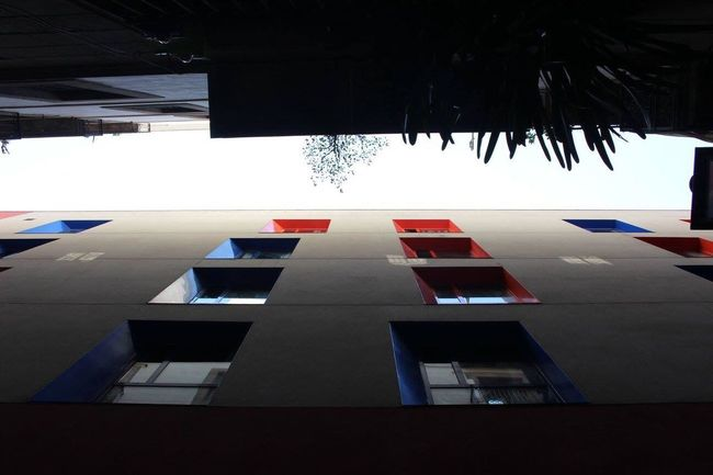 Red blue Architecture Outdoors Lookingup