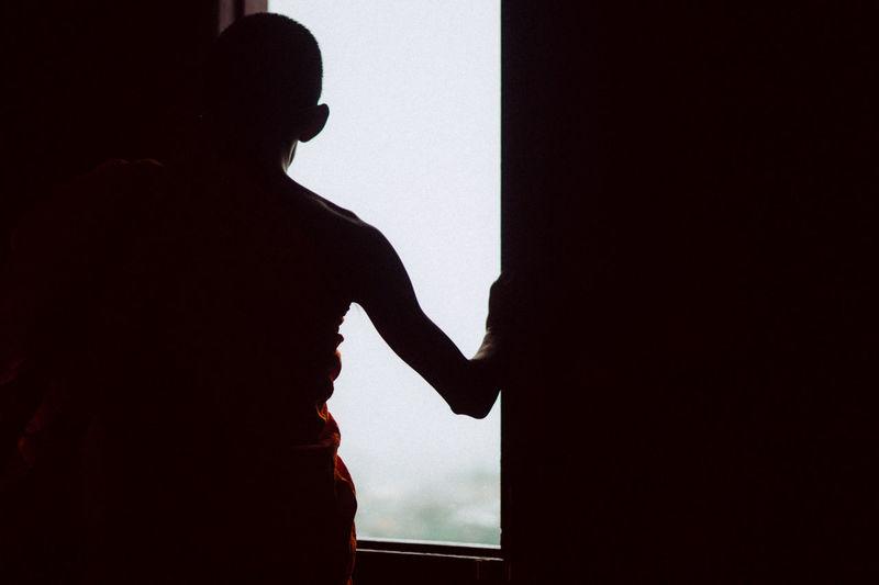 Silhouette person