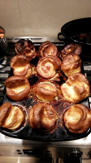 Homemade Yorkshire Puddings . Featuring Food And Drink Food Freshness Indoors  Unhealthy Eating Sweet Food Ready-to-eat Indulgence Temptation Heat - Temperature Bread No People Gourmet Close-up Food And Drink Establishment Day