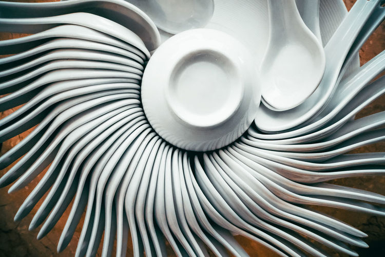 Full frame shot of kitchen utensils arranged