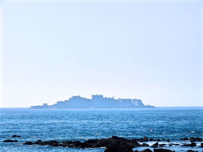 Sites of Japan's Meiji Industrial Revolution: Iron and Steel, Shipbuilding and Coal Mining UNESCO World Heritage Site Hashima Island / another name Gunkanjima view from Nomozaki, Nagasaki City. Architectural Detail Sea And Sky Yesterday Simple Photography LEICA V-LUX1 Nagasa-Kirei ( ナガサキレイ )