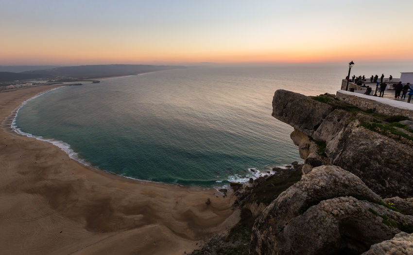 Sea Water Sky Sunset Beach Nazaré  Portugal View From Above