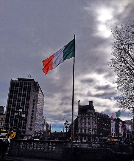 Flag Dublin Clouds Me Around The World Europe Traveling Liffey Ireland Eye4photography