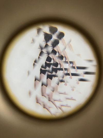 Close-up of clock on glass window
