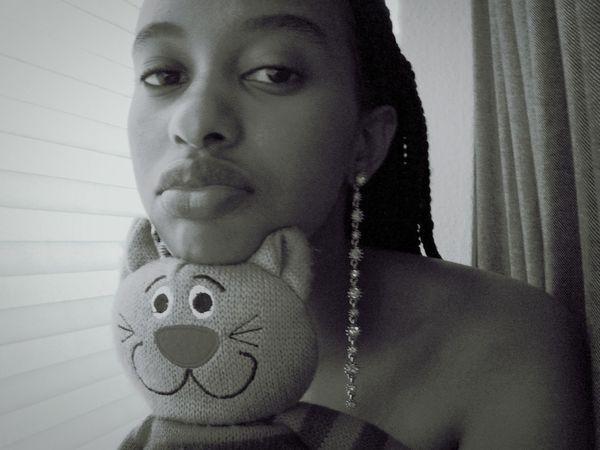 Muse Teddy KAWAII Image Photoshoot StillLifePhotography Jewellery Faces Of EyeEm Eyem EyeEmNewHere EyeEm Best Shots - Black + White Indoors  People Childhood Adult One Woman Only