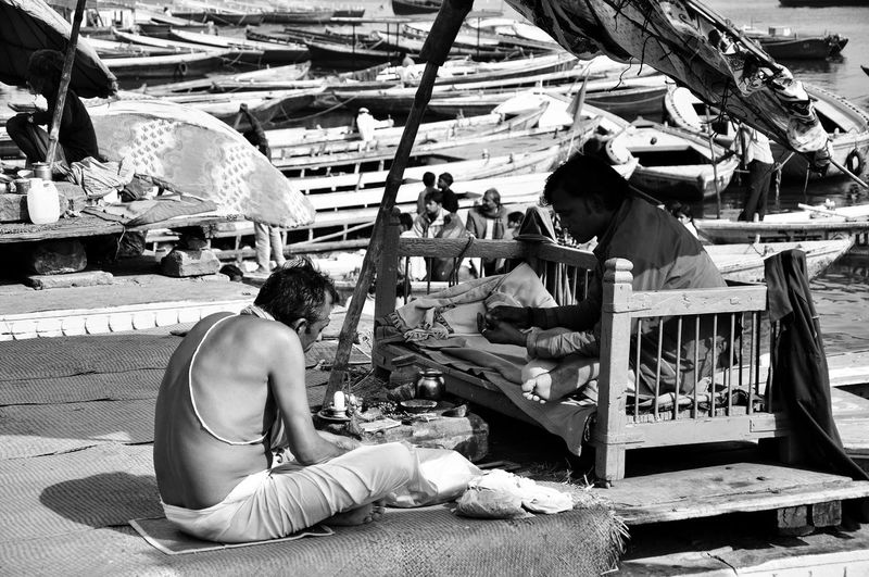 Varanasi, India Ganges, Indian Lifestyle And Culture, Bathing In The Ganges, Religious Ceremony Ritual And Culture Faith In God Travel Destinations History Group Of People Day Market Women Men Ganga Ghat, Kashi Human Connection Capture Tomorrow EyeEmNewHere