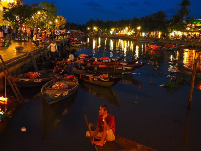 EyeEmBestPics EyeEmNewHere Hoi An Mood Captures Travel Photography Vietnam Boats Boats And Water Bridge Festival Illuminated Nautical Vessel Travel Destinations Water