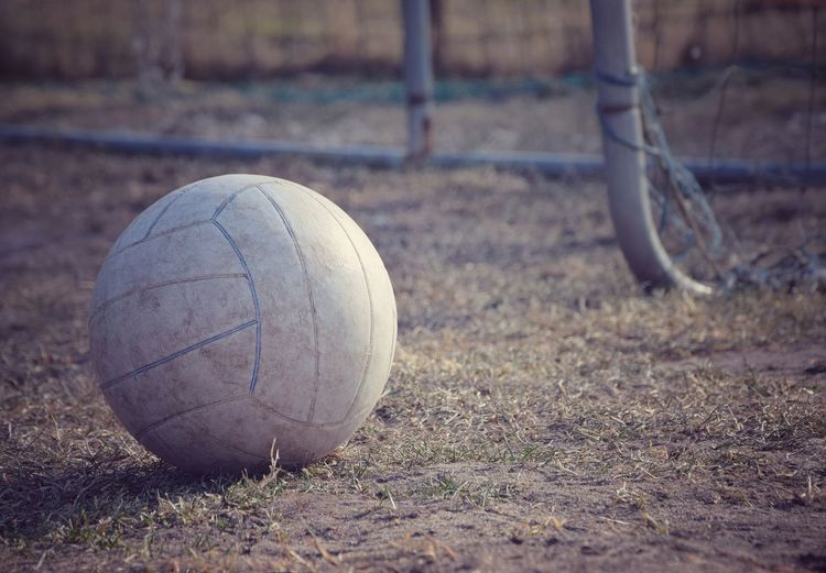 old football Football Old Backgrounds Outdoors Sport Funny Object Grass Close-up Sport Soccer Ball Baseball - Sport Close-up Goal Post Soccer Goal Goal Court Playing Field Net - Sports Equipment